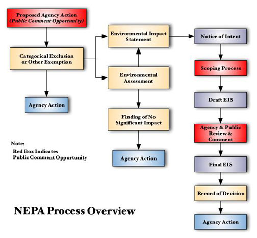 NEPA FLOW CHART TABLE